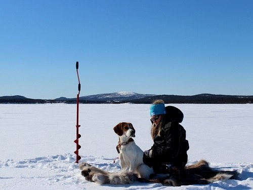 Ice Fishing With Pets As Winter Activity